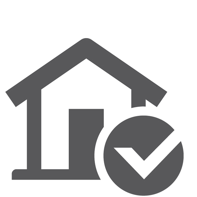 Home Equity Closed End House and Check Mark Square Icon