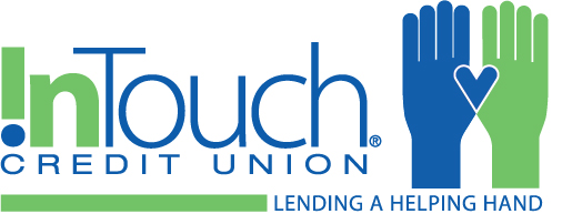 Green and Blue Hands in Support of InTouch Cares Logo