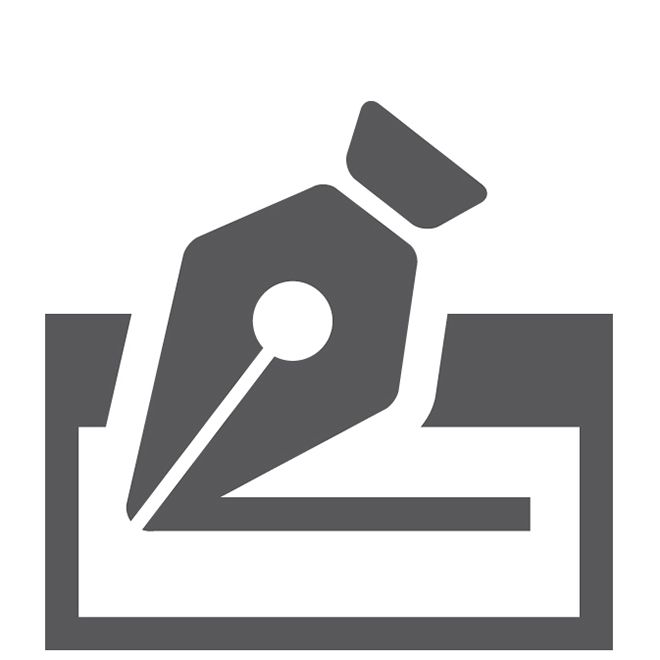 Signature Loans Pen on Line Square Icon