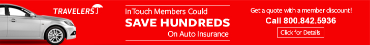 Travelers - InTouch members could save hundreds on auto insurance. Call 800-842-5936.