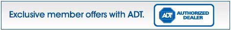 Exclusive member offers with ADT Authorized Dealer